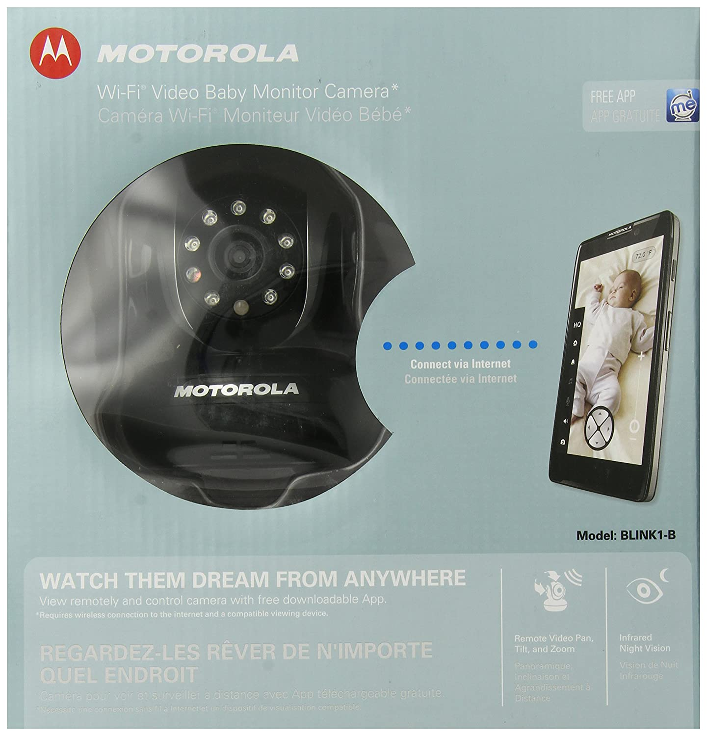 Motorola Blink1 Wi-Fi Video Camera for Remote Viewing with iPhone and Android Smartphones and Tablets, Black