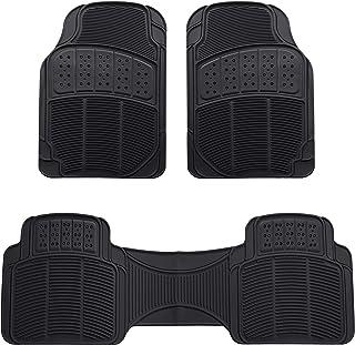 AmazonBasics Alfombras para coche, 3  piezas, negro