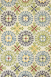 United Weavers of America Atrium Indoor/Outdoor Raj Rug, Multicolor, 2' x 3'