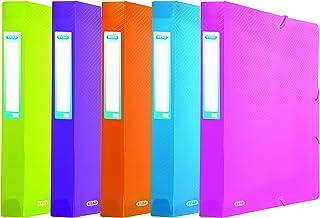 ELBA Urban Lot de 10 boîtes de classement A4 en plastique Transparent Dos 4 cm
