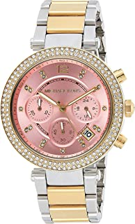 Michael Kors Womens Quartz Watch, Analog Display and Stainless Steel Strap MK6140