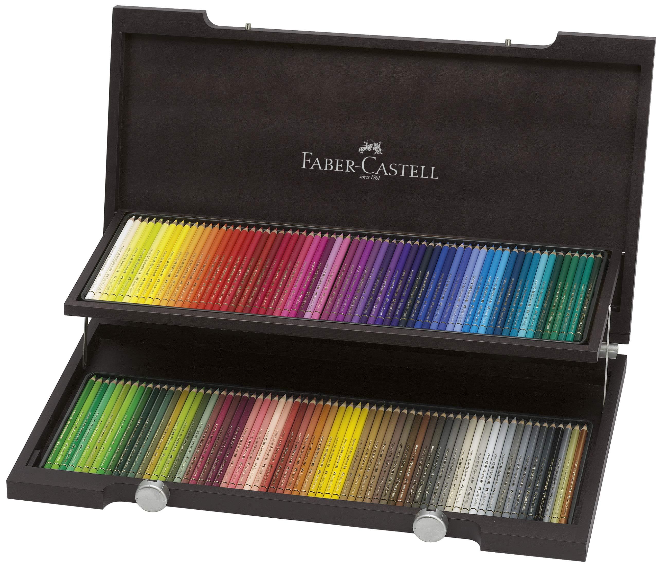 Faber-Castell 110013 - Estuche de madera con 120 ecolápices polychromos, multicolor: Amazon.es: Oficina y papelería
