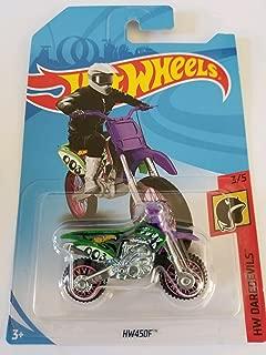 Hot Wheels 2018 50th Anniversary HW Daredevils HW450F (Dirt Bike), Green