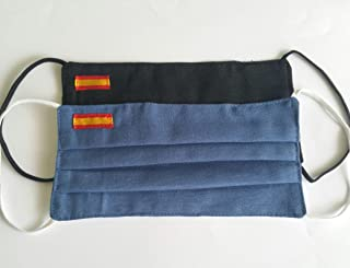 Pack 2 hombre azul y negra bandera de España