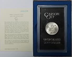 1884 CC Carson City Morgan Silver Dollar in GSA Holder with COA $1 Brilliant Uncirculated
