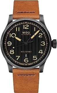 MIDO - Reloj de hombre automático 44mm correa de cuero caja de M0326073605099