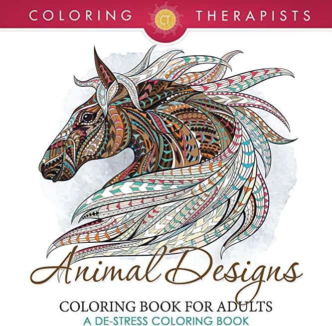 Animal Designs Coloring Book For Adults - A De-Stress Coloring Book (Animal Designs and Art Book Series) (English Edition)