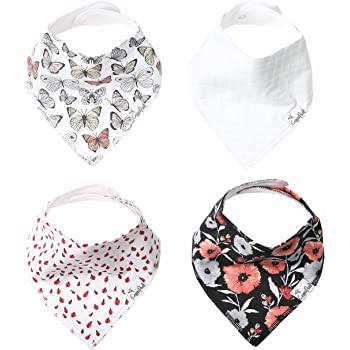 "Baby Bandana Drool Bibs for Drooling and Teething 4 Pack Gift Set ""Dot"" by Copper Pearl"