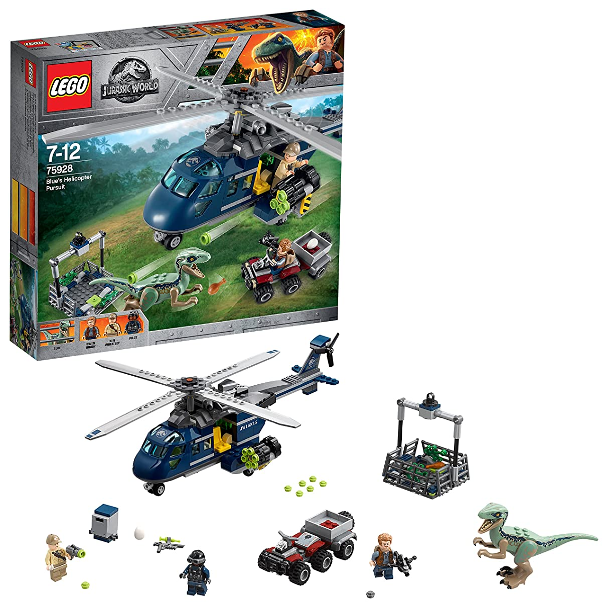 LEGO Jurassic World Blue's Helicopter Tracking Hunting 75928 Cool Toy