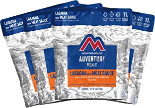 Mountain House Lasagna with Meat Sauce | Freeze Dried Backpacking & Camping Food |4-Pack