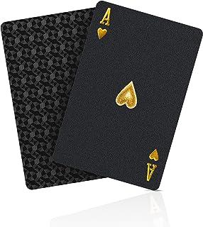 BIERDORF BIERDORF Schwarzer Diamant Kunststoff Pokerkarten Plastik wasserdichte Spielkarten- 1 Deck von Spielkarten Plastik