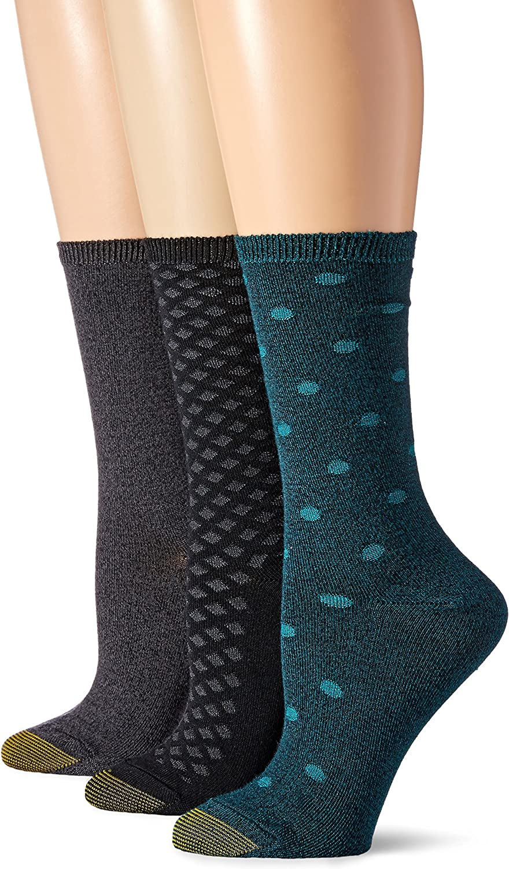 Gold Toe Women's Ultra Soft Texture Crew Socks, 3-Pairs
