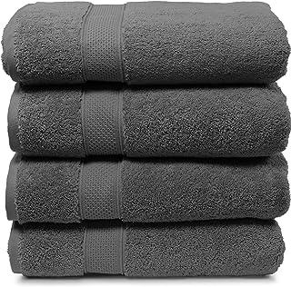 バスタオルセット 8点。2017年コレクション。バスタオル2枚、ハンドタオル2枚、手ぬぐい4枚。プレミアムクオリティートルコタオル。スーパーソフト、豪華、高吸収性。 Bath Towel - Set of 4 グレー 並&#x88...