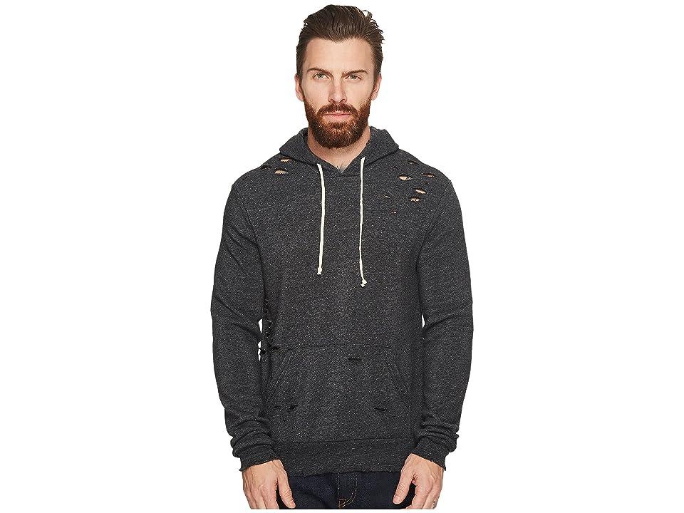 Alternative The Super Distressed Challenger Sweatshirt (Eco Black) Men