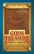NIV, God's Treasure Holy Bible, Leathersoft, Dark Tan: Golden promises and priceless stories