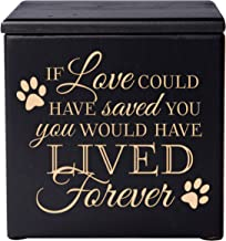Cremation Urns for Pets Small Memorial Keepsake Box for Dogs and Cats, Urn for pet Ashes If Love Could Have Saved You You Would Have Lived Forever Holds Small Portion of Ashes (Black)