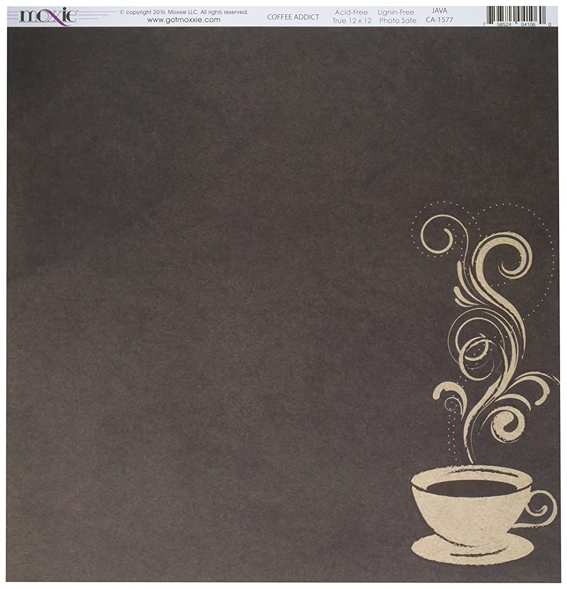 Moxxie CA-1577 25 Sheet Java Coffee Addict Double-Sided Cardstock, 12