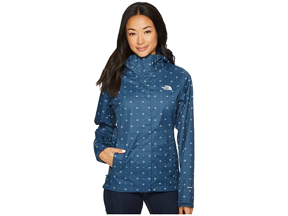 The North Face Print Venture Jacket (Blue Wing Teal Airy Bandana Print) Women