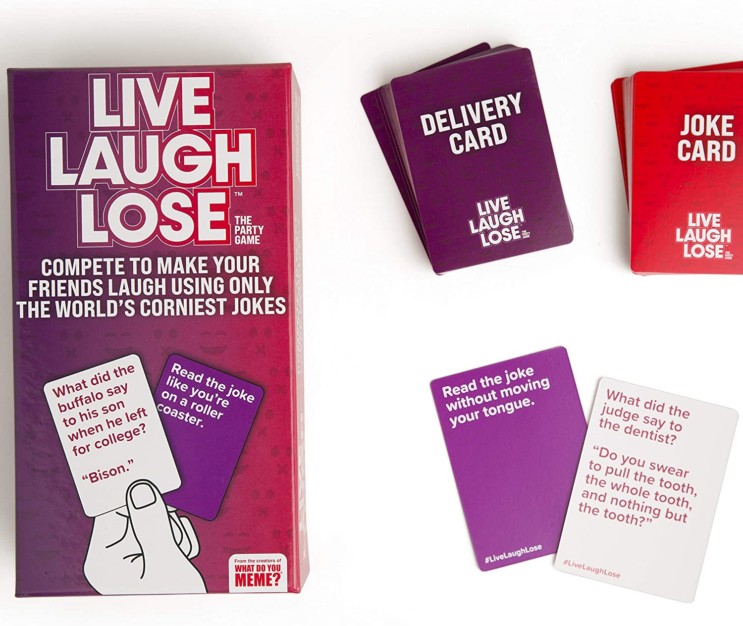 Live Laugh Lose Game - Package contents