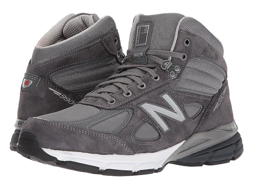 New Balance 990v4 Boot (Grey/White) Men
