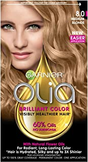 Garnier Olia Ammonia Free Hair Color [8.0] Medium Blonde 1 Each (Pack of 4)