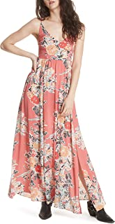 Intimately Free People Womens Through The Vine Floral Maxi Dress Red XS