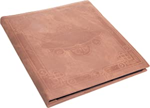 Red Co. Brown Faux Leather Family Photo Album with Embossed Decorative Borders – Holds 500 4x6 Photographs