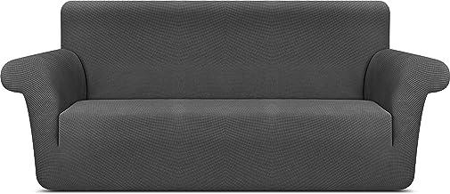 Utopia Ropa de Cama Elegante Funda de sofá (3 plazas) Poliéster Spandex Tejido elástico Estampado para 72 a 92 Pulgadas (182 cm a 233 cm) Sofá/Sofá Gris