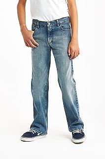 Wrangler Authentics Big Boys' Boot Cut Jeans, stonewash indigo, 12H