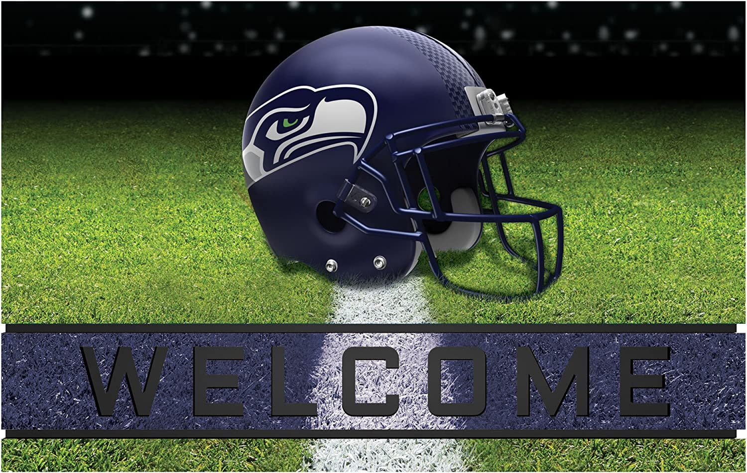 FANMATS 19960 Team Color Crumb Door Detroit Mall Mat Seattle Fixed price for sale Rubber Seahawks