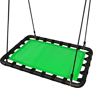 Platform Swing Set Accessories Replacement - 40in L x 30in W, Outdoor Tree Swing Heavy Duty Materials, Room for Multiple Toddler, Kids, Children Swing Playhouse, Playground By ROBINHOOD (green)