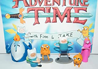 Adventure Time Cartoon Network Mini Figure Toy Set Playset with Finn, Jake, Ice King and More!