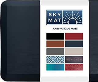 Sky Solutions Anti Fatigue Mat - Cushioned Comfort Floor Mats For Kitchen, Office & Garage - Padded Pad For Office - Non S...