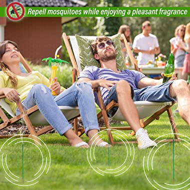 Mosquito Repellent Incense Sticks 50 Pieces per Box New Formula/Natural Ingredients Citronella Oil/Lemongrass Oil/Made with N
