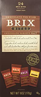 Brix Bites Chocolate for Wine Variety Pack (4 Flavors) Net WT 6oz