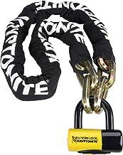Kryptonite New York Fahgettaboudit Fietsketen en New York Disc Fietsslot - Zwart/geel