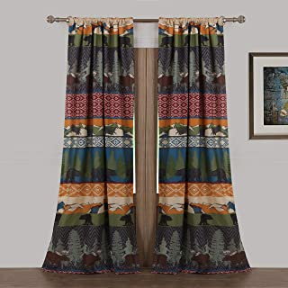 Greenland Home Fashions Black Bear Lodge 4-Piece Window Panel Pair