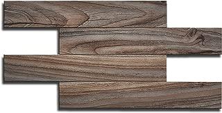 Artesania Muro Peel and Stick Bathroom Backsplash Tiles, Wood Grain, Adhesive, Fire Proof, Water Proof, Anti-Moldy, 13.4 inch x 6.7 inch per Tile, Pack of 22 Tiles