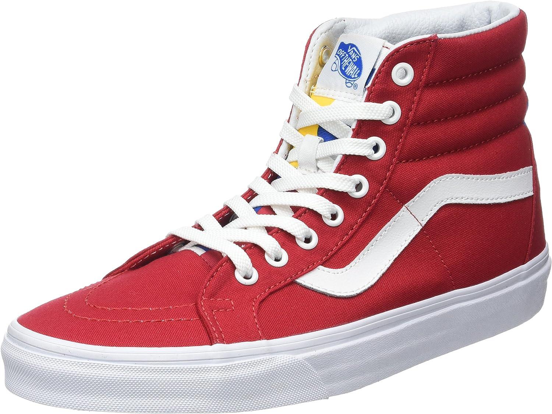 Vans Men's Ua Sk8 Reissue Hi-Top Sneakers, Red (1966 Red bluee True White), 36.5 EU