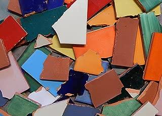 Broken Mexican Talavera Tiles Handmade Mix Solid Colors 10 Pounds