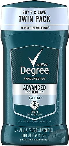 Degree Men Adrenaline Series Antiperspirant & Deodorant, Everest 2.7 oz each, Twin Pack