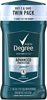 Degree Men Antiperspirant and Deodorant, Everest 2.7 oz, Twin Pack
