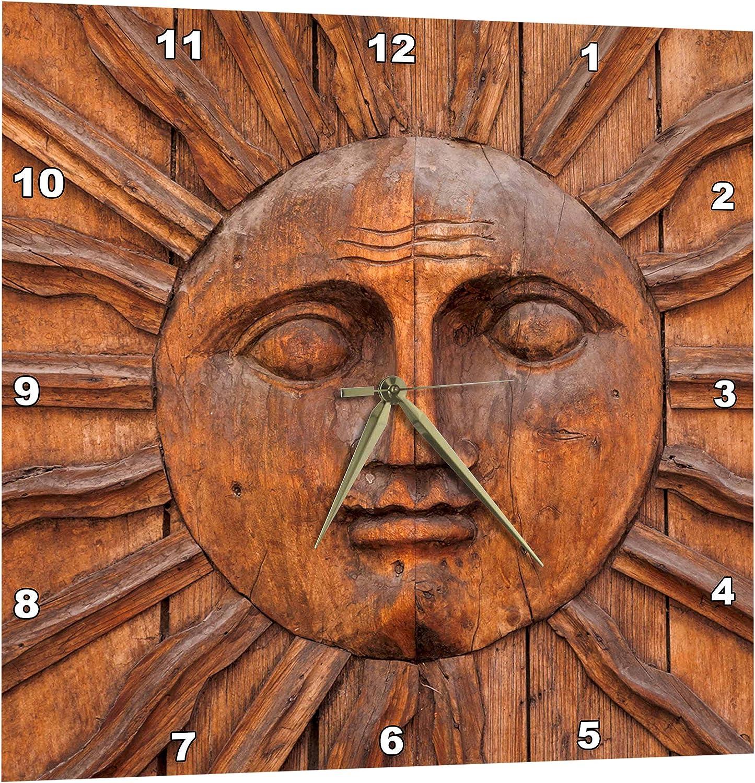 3dpink Mexico, San Miguel De Allende. Sun Carving on Doorway. - Wall Clock, 10 by 10-Inch (DPP_208268_1)