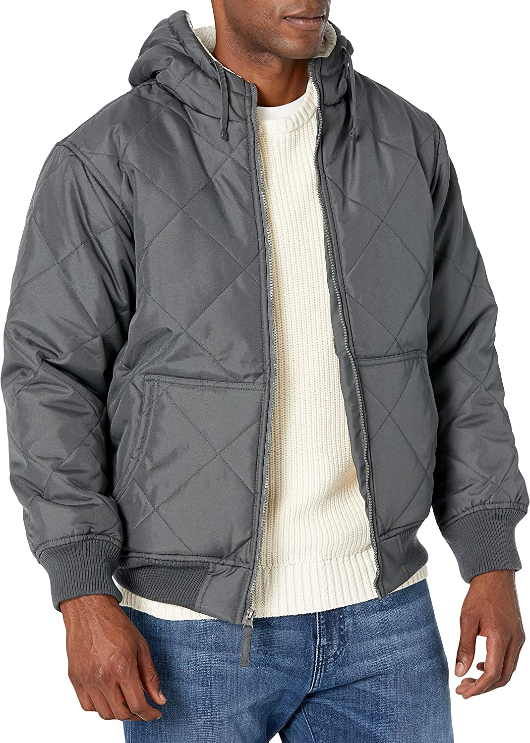Mountain Club Men's Hooded Trucker Jacket with Micro-Sherpa Lining