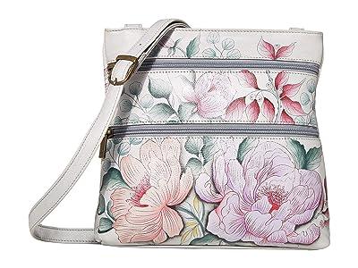Anuschka Handbags Compact Crossbody Travel Organizer 447 (Bel Fiori) Cross Body Handbags