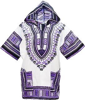 0de05f31b4f69 Lofbaz Robe Chemise Unisexe Africaine Traditionnelle Imprimé Dashiki