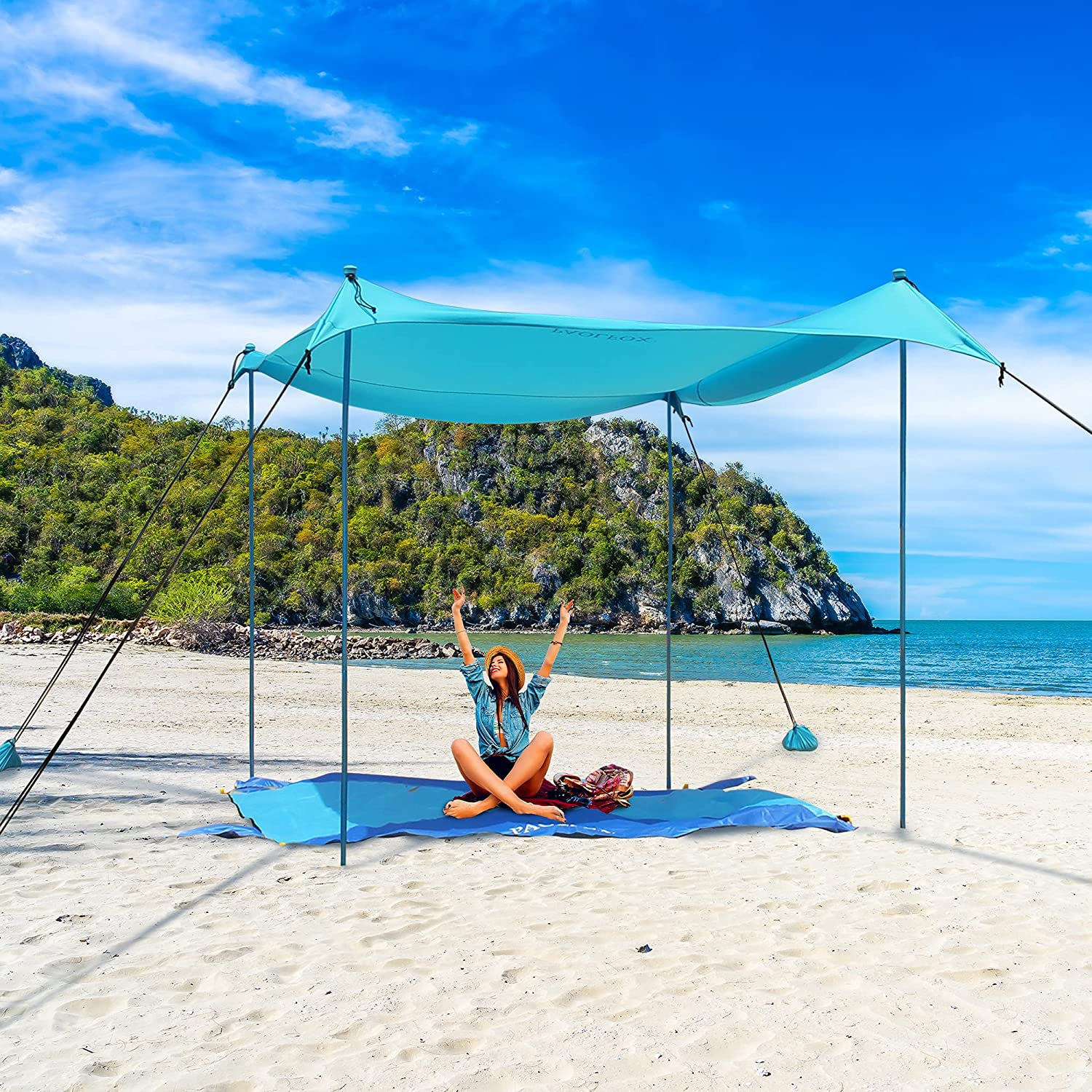 PAOLFOX Beach Outdoor Tent Sun Shade Shelter Some reservation Sa Canopy UPF50+ Super beauty product restock quality top w