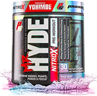 ProSupps® Mr. Hyde® NitroX Pre-Workout Powder Energy Drink - Intense Sustained Energy, Pumps & Focus with Beta Alanine, Creatine & Nitrosigine, (30 Servings, Pixie Dust)