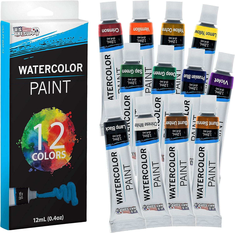 U.S. Fort Worth Mall Gorgeous Art Supply 12ml Premium Aluminum Artist Vivid Watercolor Tu