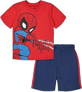Marvel Spiderman Boys Short Sleeve T-Shirt and Mesh Shorts Set
